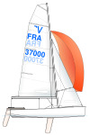 Vaurien vector 2008 sail plan.svg