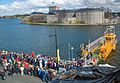Vaxholm 0918 Cable Ferry Vaxholm-Kastellet April 2016 (26109403103).jpg
