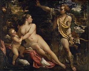 Vénus, Adonis et Cupidon