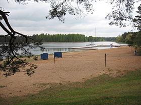 Пляж озера Вереви