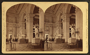 Memorial Hall (Philadelphia) - Vestibule, during the 1876 Centennial Exposition.