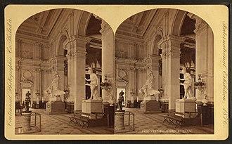 Memorial Hall (Philadelphia) - Vestibule, during the 1876 Centennial Exposition.