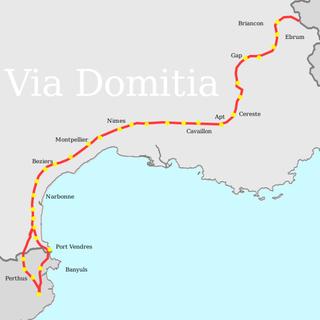 Via Domitia Roman road linking Italy and Hispania through Gallia Narbonensis