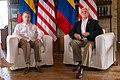 Vice President Mike Pence and Colombian President Juan Manuel Santos meet in Cartagena, Colombia, August 13, 2017.jpg