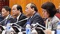 Vietnamese Prime Minister Nguyen Xuan Phuc and his officials talk with their Philippine counterparts during a meeting on September 29 2016 cropped.jpg