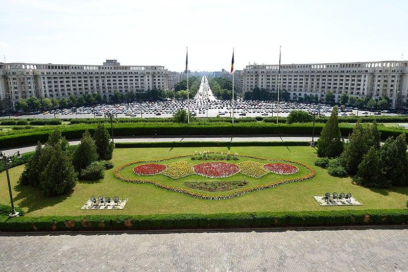Файл: Вид из Дворца Парламента в Бухаресте Румыния в июне 2017 года.