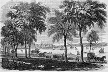 Vista di New London nel 1854