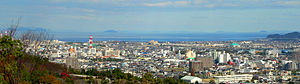 Niihama, Ehime - Downtown Niihama and Seto Inner Sea