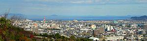 Niihama, Ehime - Downtown Niihama and Seto Inner Sea