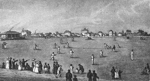 View of the Mary-le-Bone Club's cricket ground (The Hambledon Men).jpg