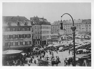 Viktualienmarkt - Viktualienmarkt 1900