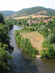 The Allier River and Villeneuve-d'Allier