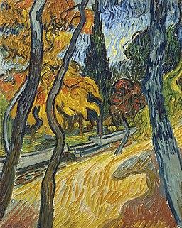 Vincent van Gogh - Arbres dans le jardin de l'asile (1889)