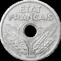Vingt centimes état français 1941 avers.png