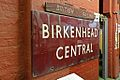 Vintage station sign, Wirral Transport Museum, Birkenhead (geograph 4533759).jpg