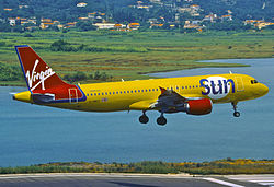 Airbus A320-200 der Virgin Sun Airlines
