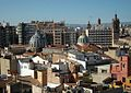 Vista cap el Mercat Central des del Micalet, València.JPG