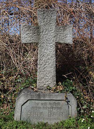 Vlčice (Wildschütz) - old gravestone