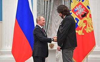 Philipp Kirkorov - Kirkorov receives the Order of Honor from Russian President Vladimir Putin, 15 November 2017