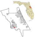 Volusia County Florida Incorporated and Unincorporated areas Enterprise Highlighted.png