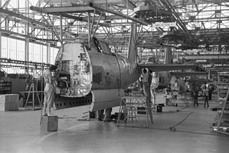 Vultee A-31 Vengeance - Vultee assembly line in August, 1942