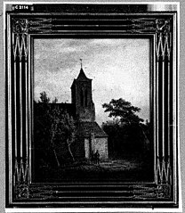 Het graf van Hendrikus Eli Jacobus Schuurman, naast de kerk van Rittem, bezocht door zijn twee broers