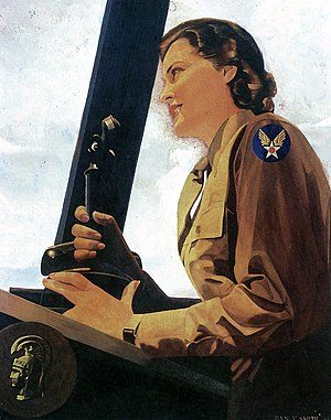 1943 Painting of a World War II WAC Air Contro...