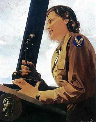 United States Army Air Forces - 1943 portrait of WAC air controller