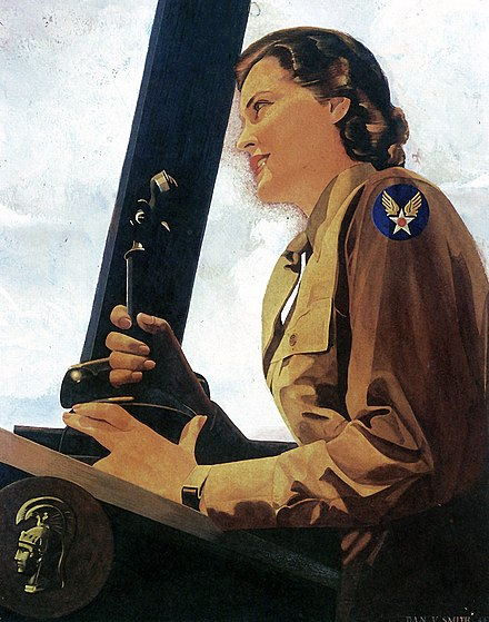 1943 portrait of WAC air controller WAC Air Controller by Dan V. Smith.jpg