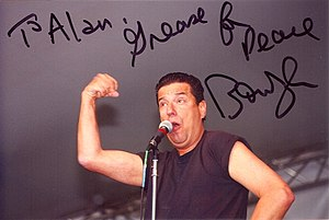 "Sha Na Na - Jon ""Bowzer"" Bauman, April 2000."