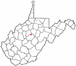 Location of Burnsville, West Virginia