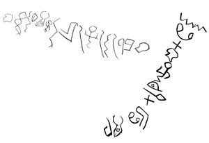Proto-Sinaitic script - Image: Wadi el Hol inscriptions drawing