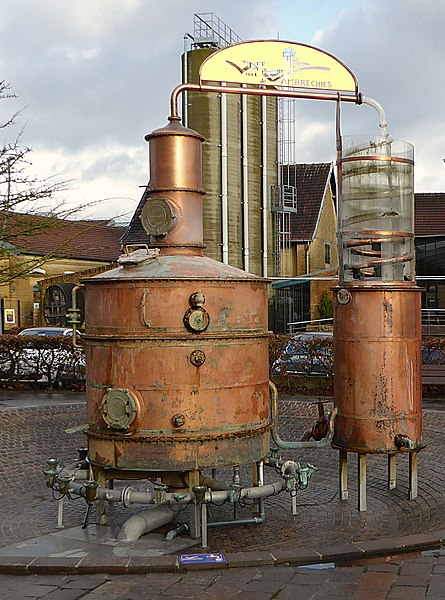 "An old alembic used in the gin distillery ""Claeyssens"" Wambrechies (Nord). France"