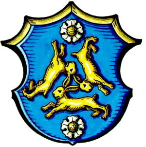 Three hares - Arms of the city of Hasloch