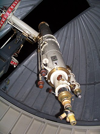 Warner and Swasey Observatory - Image: Warner and Swasey 9.5inch refracting telescope