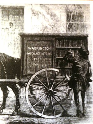 Bookmobile - The Perambulating Library of 1859 in Warrington, England