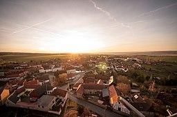 Blick in die Dorfmitte von Weira vom Weiraer Kirchturm