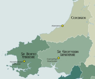 West Wales - Location of West Wales