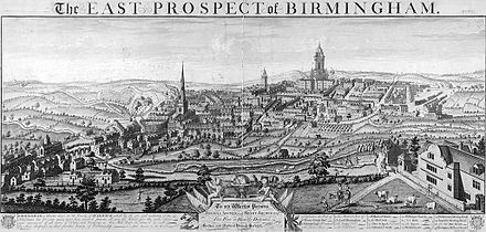 Birmingham in 1732 Westley---East-Prospect-of-Birmingham-1732.jpg