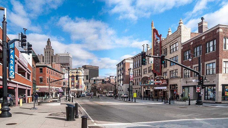 Weybosset Street view, Providence, Rhode Island