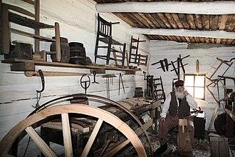 Wheelwright - Wheelwright reenactor New Salem, Illinois