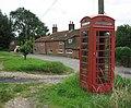 Wickmere village street with telephone kiosk - geograph.org.uk - 506733.jpg
