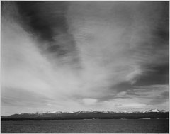 "Wider strip of mountains, ""Yellowstone Lake, Yellowstone National Park,"" Wyoming., 1933 - 1942 - NARA - 519996.tif"