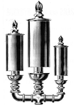 Steam whistle - 3-bell multi-tone (chime) whistle sounds a musical chord.