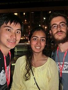 Wikimania 2017 by Deryck day 3 - 12 Niharika and Brian.jpg