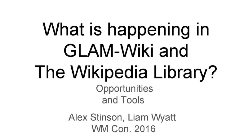 File:Wikimedia Conference - GLAM & TWL Highlights.pdf