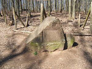 Betzenberg Wildlife Park - Stone and inscription