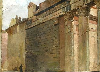 Wilhelm Lindenschmit the Younger - The Temple of Antoninus and Faustina in Rome