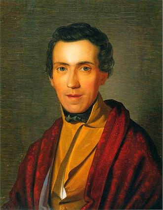 Adrian Ludwig Richter - Ludwig Richter. Portrait by Wilhelm von Kügelgen (1836)