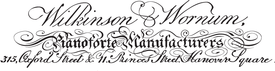 Wilkinson & Wornum inside label, ca.1811